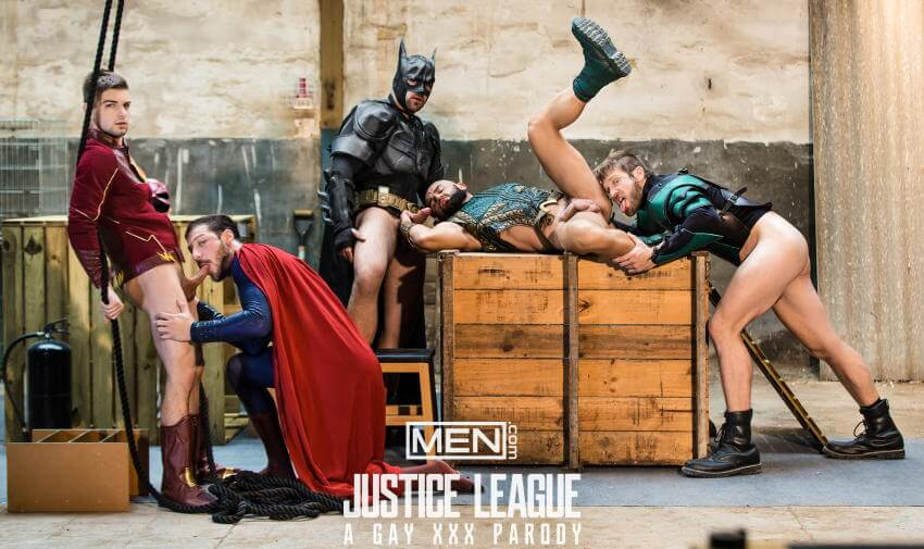 Justice League gay porn rimming
