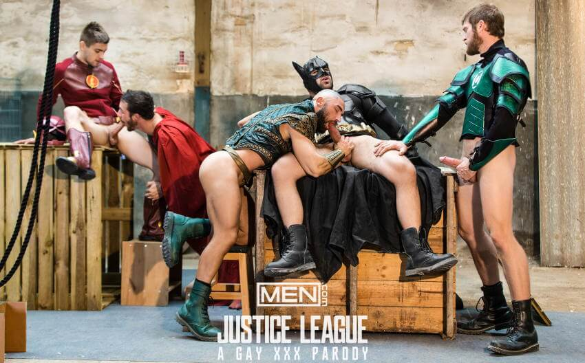 Justice League gay porn sucking