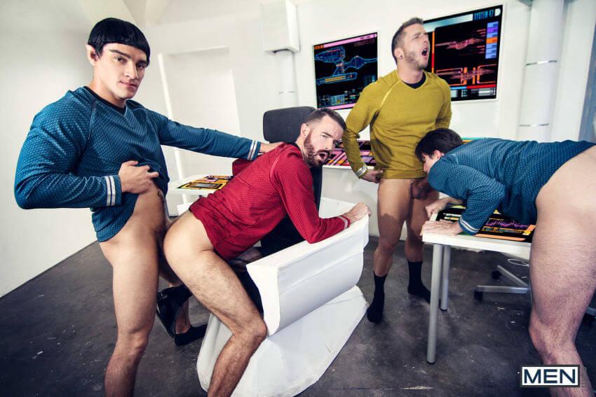 Star Trek gay porn foursome
